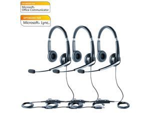 Jabra Voice 550 Duo MS Corded Headset w/ Noise Reduction System (3 Pack)