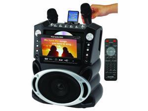 "Karaoke USA JSKGF829M DVD/CD+G/MP3+G Karaoke System with 7"" TFT Color Screen - Digital echo"