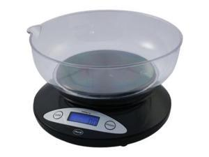 AWS 5K-BOWL Kitchen Bowl Scale - 11 lb / 5 kg Maximum Weight Capacity - Black