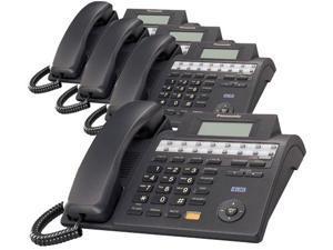 Panasonic KX-TS4100B 4-Line Corded Phone W/ Wall Mount Included 4 Pack
