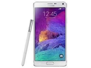 Samsung Galaxy Note 4 / SM-N910H Dazzling White (International Model) Unlocked GSM Mobile Phone