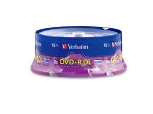 Verbatim N71130M Verbatim DVD+R DL AZO 8.5 GB 8x-10x Branded Double Layer Recordable Disc, 15-Disc Spindle 95484
