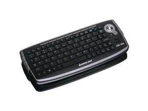 iogear GKM681RB IOGEAR GKM681R 2.4GHz Wireless Compact Keyboard with Optical Trackball and Scroll Wheel (Silver/Black)