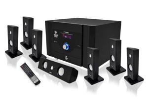 PYLE Audio PYLPT798SBAB 7.1 Channel Home Theater System with Satellite Speakers and Bluetooth