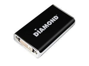 Diamond Multimedia BVU195s Diamond BVU195 HD USB 2.0 to VGA / DVI / HDMI Adapter (DisplayLink DL-195 Chipset)