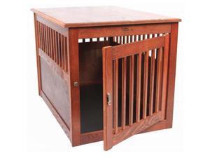 Dynamic Accents Large Oak End Table Pet Crate