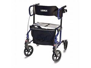 Lumex Hybrid LX Rollator - Blue Transport Chair