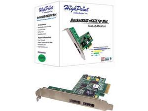 HighPoint RocketRAID eSATA for Mac PCI Express x4 SATA II (3.0Gb/s) Controller Card