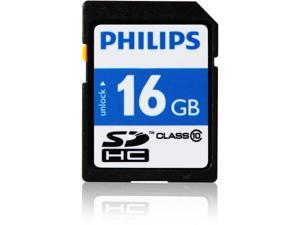 Philips FM16SD45B/27 Philips 16 GB SDHC - Class 10 - 20 MB/s Read - 12 MB/s Write1 Pack