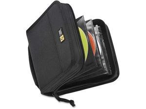 Case Logic CDW-32BLACK Case Logic 32 Capacity CD Wallet - Book Fold - Nylon - Black - 32 CD/DVD
