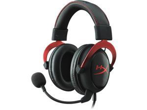 Kingston KHX-HSCP-RD Kingston HyperX Cloud II Headset - Surround - Red - Mini-phone - Wired - 60 Ohm - 15 Hz - 25 kHz - Over-the-head - Binaural - Circumaural - 3.28 ft Cable - Condenser Microphone