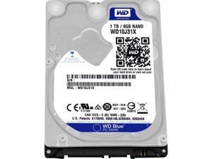 "WD WD10J31X-00U3VT0 WD Blue WD10J31X-00U3VT0 1 TB 2.5"" Internal Hybrid Hard Drive - 8 GB SSD Cache Capacity - SATA - 5400"