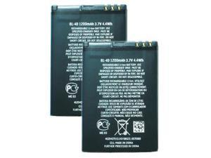 Replacement Battery for Nokia BL-4D (2 Pack)