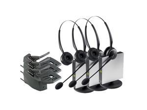 Jabra GN9125 Duo DECT 6.0 Wireless Headset W/ Lifter & Noise-Canceling Microphone (3-Pack)