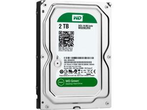 WD WD20EZRX WD Green 2TB Desktop Capacity Hard Drives SATA 6 - WD Green 2TB Desktop Hard Drive 3.5-inch SATA 6, IntelliPower, 64 MB Cache Internal Bare or OEM Drive