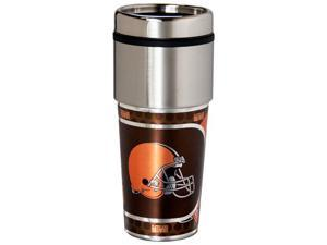 Great American Products Cleveland Browns Travel Tumbler Stainless Steel 16 oz. Travel Tumbler