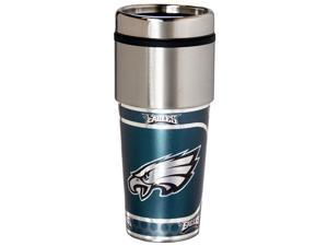 Great American Products Philadelphia Eagles Travel Tumbler Stainless Steel 16 oz. Travel Tumbler