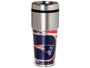Great American Products New England Patriots Travel Tumbler Stainless Steel 16 oz. Travel Tumbler