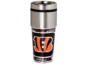 Great American Products Cincinnati Bengals Travel Tumbler Stainless Steel 16 oz. Travel Tumbler