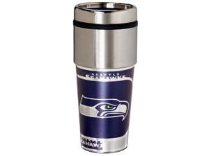 Great American Products Seattle Seahawks Travel Tumbler Stainless Steel 16 oz. Travel Tumbler
