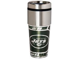 Great American Products New York Jets Travel Tumbler Stainless Steel 16 oz. Travel Tumbler