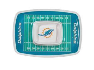 Siskiyou Sports Miami Dolphins Chip And Dip Tray Chip and Dip Tray