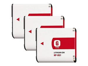 Battery for Sony NPBG1 (3-Pack) Replacement Battery