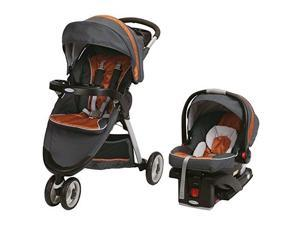 Graco FastAction Fold Sport Click Connect Travel System Tangerine Travel System