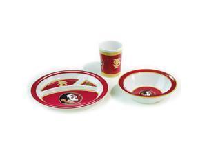 Bsi Products Inc Florida State Seminoles Kids 3 Pc. Dish Set Dish Set