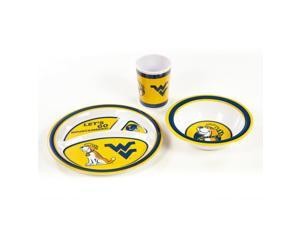 Bsi Products Inc West Virginia Mountaineers Kids 3 Pc. Dish Set Dish Set