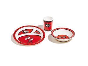 Bsi Products Inc Georgia Bulldogs Kids 3 Pc. Dish Set Dish Set