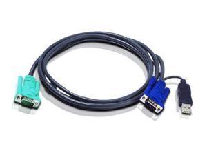Aten 2L5202UB ATEN USB KVM Cable - SPHD15 to VGA & USB A 2L5202U, 6 Feet