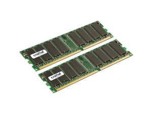 Crucial CT2CP12864Z40BM D-RAM 2GB KIT-2 x 1GB-DDR PC3200