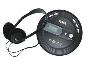 Naxa NAXNPC330B Naxa NPC330 Slim Personal Mp3/CD Player with FM Radio