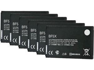 New Replacement Battery BF5X / HF5X / SNN5877A / SNN5877 For Motorola Phones 6pk