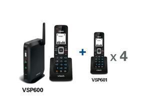 VTech VSP600 + (4) VSP601 No Service Base Station and handset