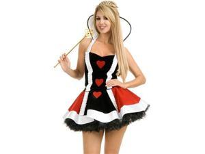 Sexy Queen Of Hearts Short Dress Halloween Costume