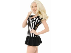 Sexy Halloween Playboy Adult Sports Referee Costume