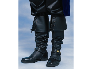 Adult Mens Faux Leather Pirate Costume Boot Top Covers