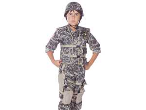 Kids Boys Army Ranger Soldier Deluxe Halloween Costume