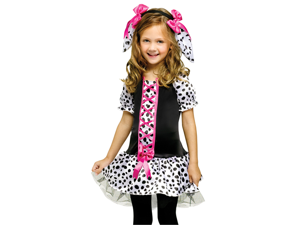 Kids Toddler Girls Polka Dot Dalmatian Puppy Dog Halloween Costume