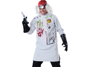 Mad Scientist Evil Doctor Adult Scary Halloween Costume XL