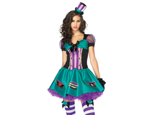 Sexy Adult Womens Mad Hatter Halloween Costume