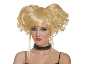 Sexy Blonde Curly Pigtails Gothic Burlesque Cosplay Costume Wig