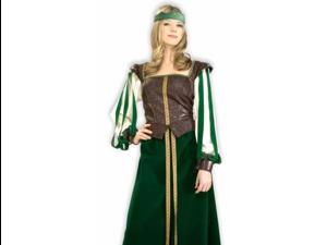 Adult Womens Costume Maid Marion Renaissance Dress S