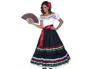 Sexy Senorita Womens Mexican Spanish Halloween Costume