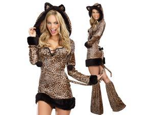 Sexy Cheetah Leopard Jungle Cat Plus Size Halloween Costume