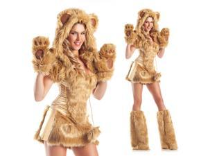 Sexy Womens Furry Teddy Bear Halloween Costume