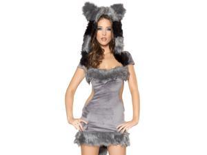 Sexy Womens Raccoon Furry Animal Halloween Costume