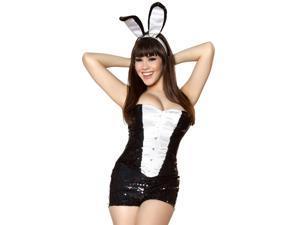 Sexy Bunny Rabbit Tuxedo Burlesque Cabaret Halloween Costume